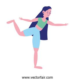 girl stretching exercise