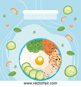 Healthy bowl poster