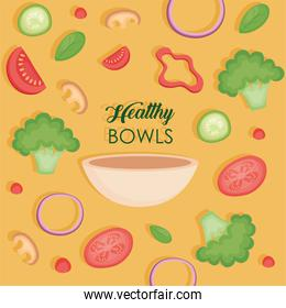 Healthy bowl with vegetables