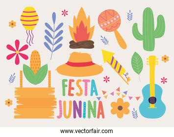 festa junina icons