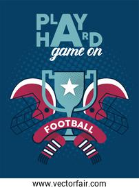 american football trophy poster