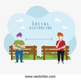 physical distancing sitting