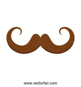 brown father mustache