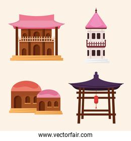 asian architecture four icons