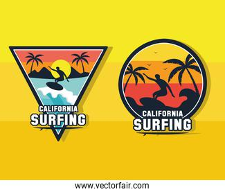 two surf patches