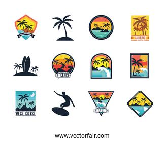 twelve surf patches