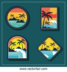 four surf sport patches