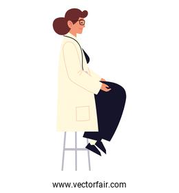 woman doctor sitting