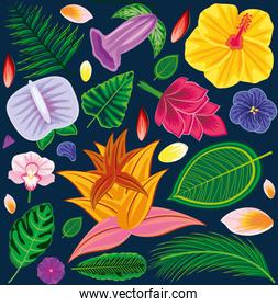 background tropical motif