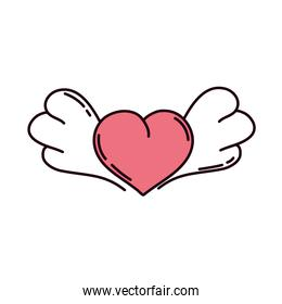 love heart wings
