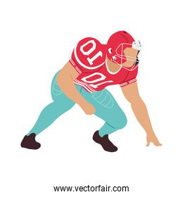 american football player tackling