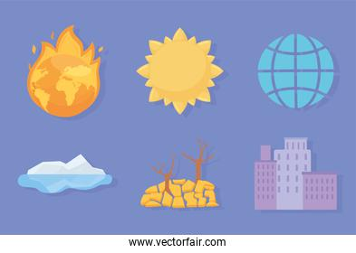 change climate icons