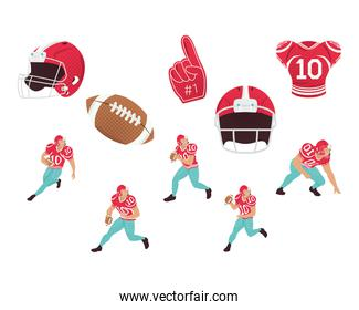 ten american football icons