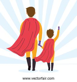 super dad and son back