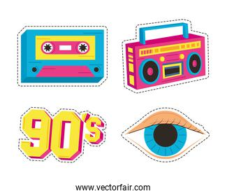 four nineties patches