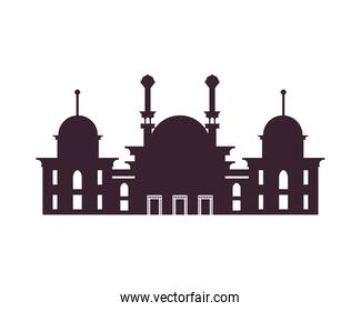 silhouette muslim mosque