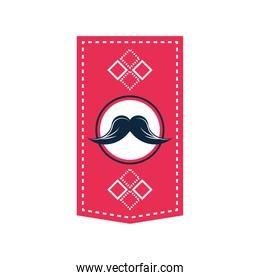 pendant with mustache