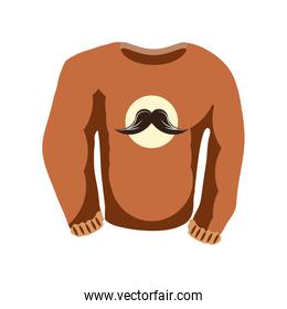 sweater with mustache