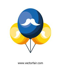 balloons with mustache