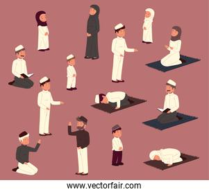 different muslims people
