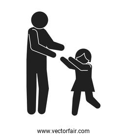 father daughter pictogram