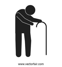 old man pictogram