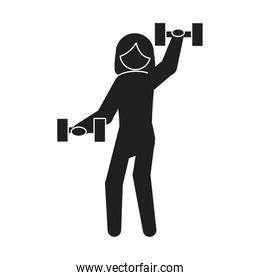 fitness woman with weight