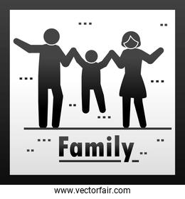 family pictogram style