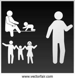 pictogram family people