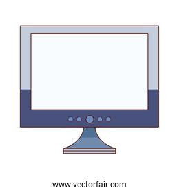 desktop computer display over white