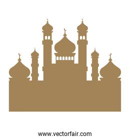 mosque brown silhouette