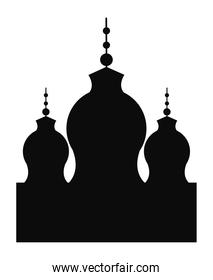 mosque temple silhouette