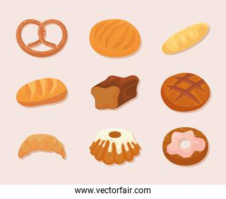 bakery food icons