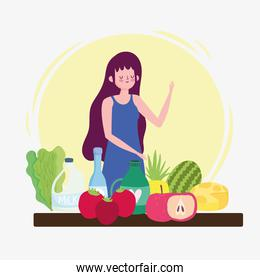woman with healthy life