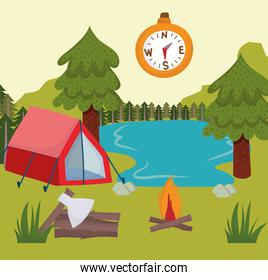 camping tent compass