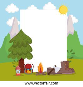 camping adventure banner