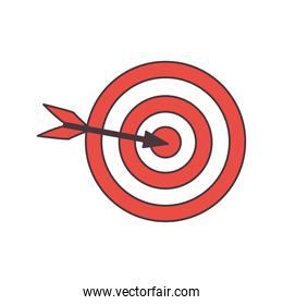 Isolated target icon
