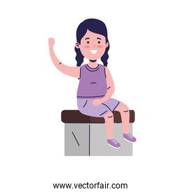 little lady seated