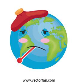 earth with fever