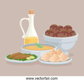 oil and arabic foods