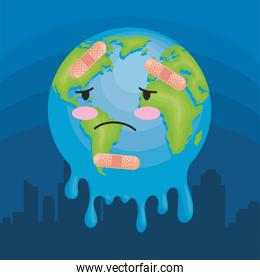 earth melting character