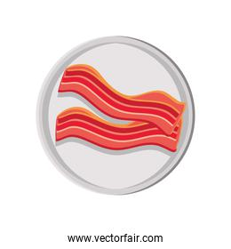 fried bacon on dish