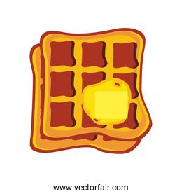 waffle delicious butter