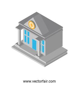 bank investment isometric