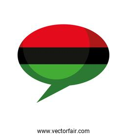 afro flag bubble