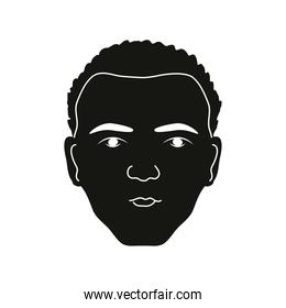 silhouette afro man
