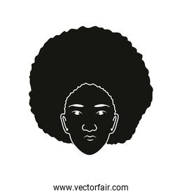 silhouette afro woman
