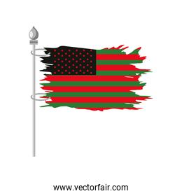 african american independence flag