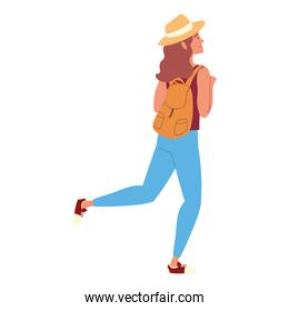 woman with rucksack