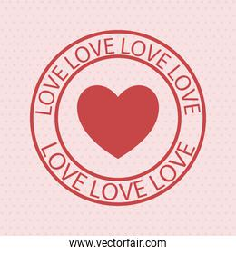 colored love stamp
